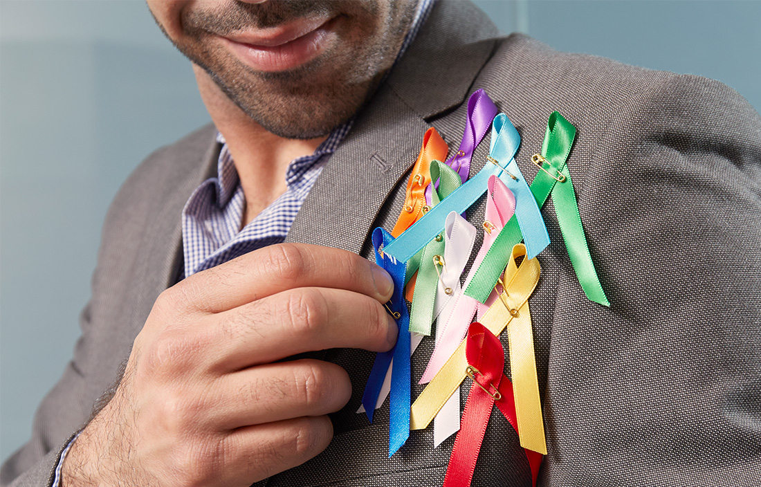 Image of charitable ribbons