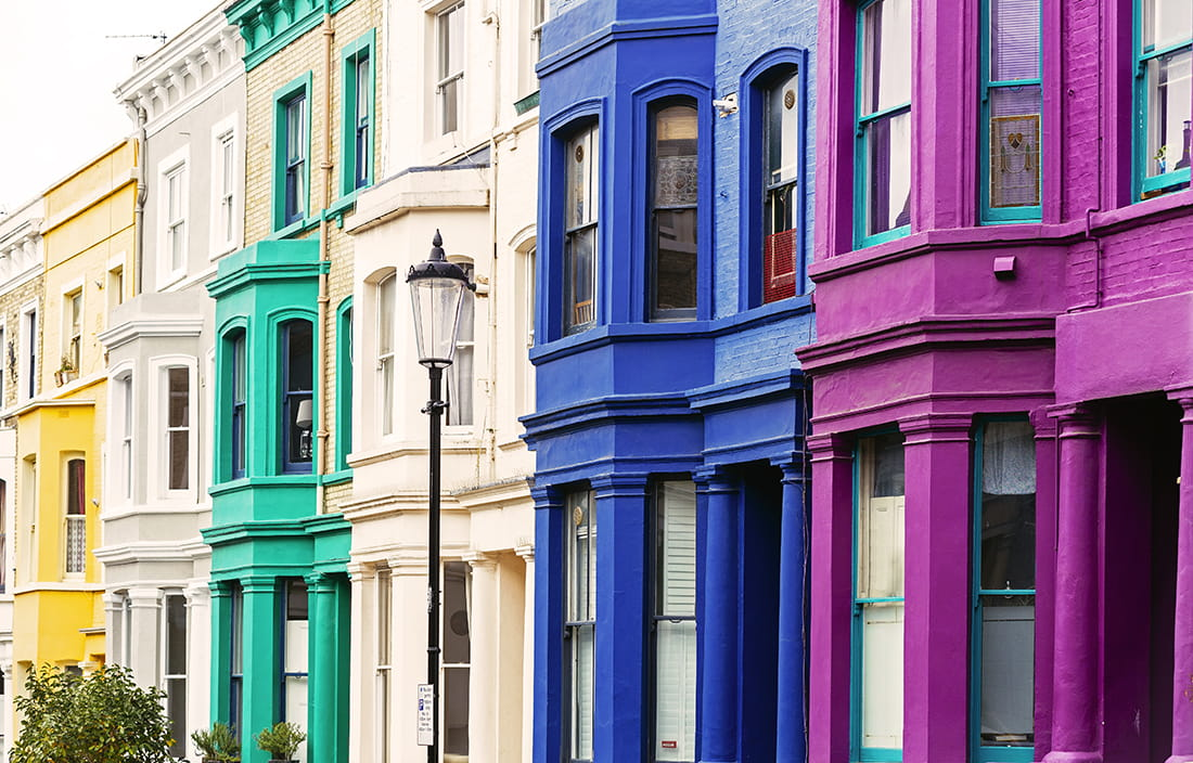Image of colorful building sides
