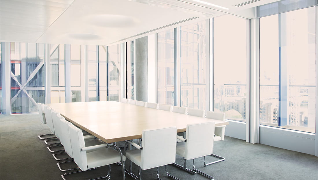 modern white empty board room