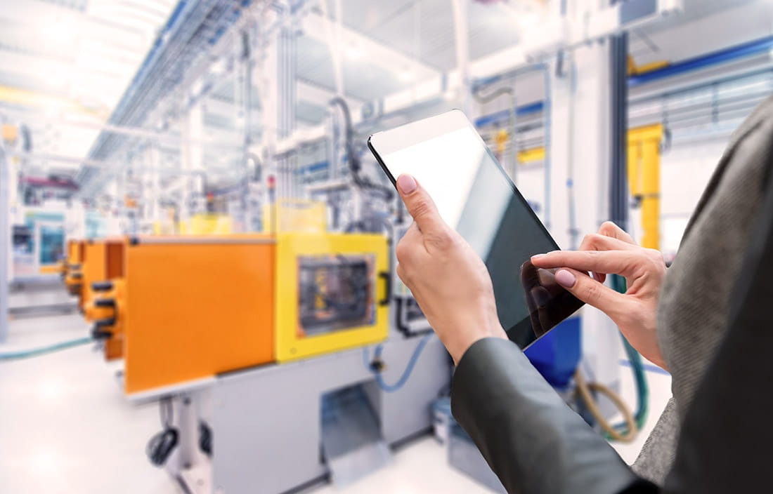 Connected manufacturing research on a tablet