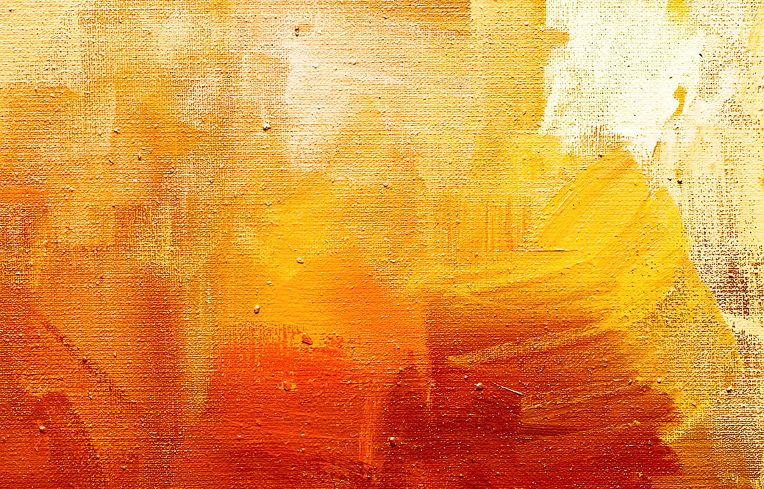 Image of orange and yellow paint on canvas