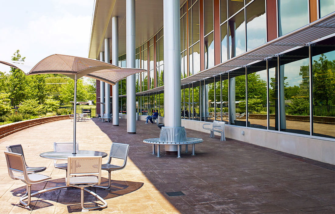 Novi Public Library Patio