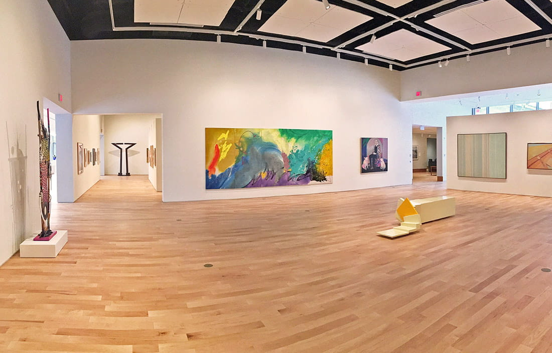Finished construction and installation of art gallery space in Northwestern Michigan College