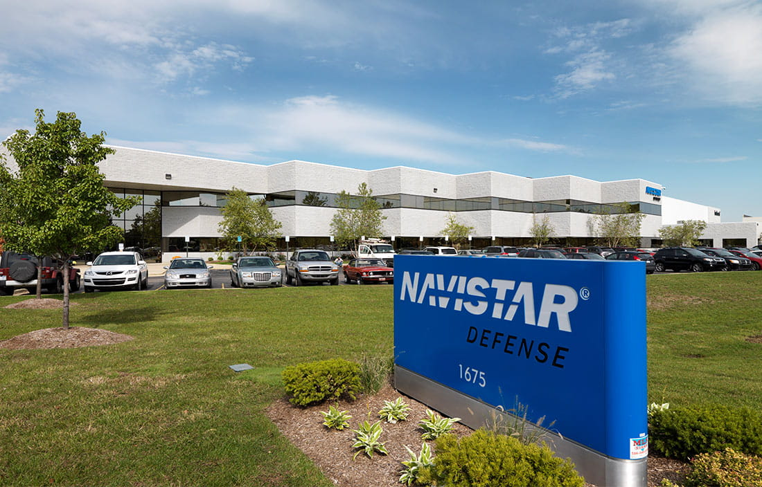 Navistar Defense Exterior Sign
