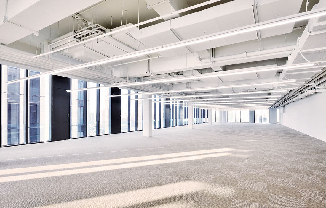 Empty, open office space