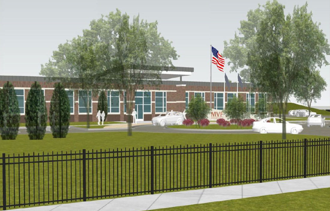 Rendering for new Detroit Veterans Center, part of the Michigan Veterans Foundation