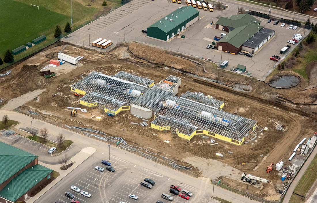 Novi Community School District Early Childhood Center construction