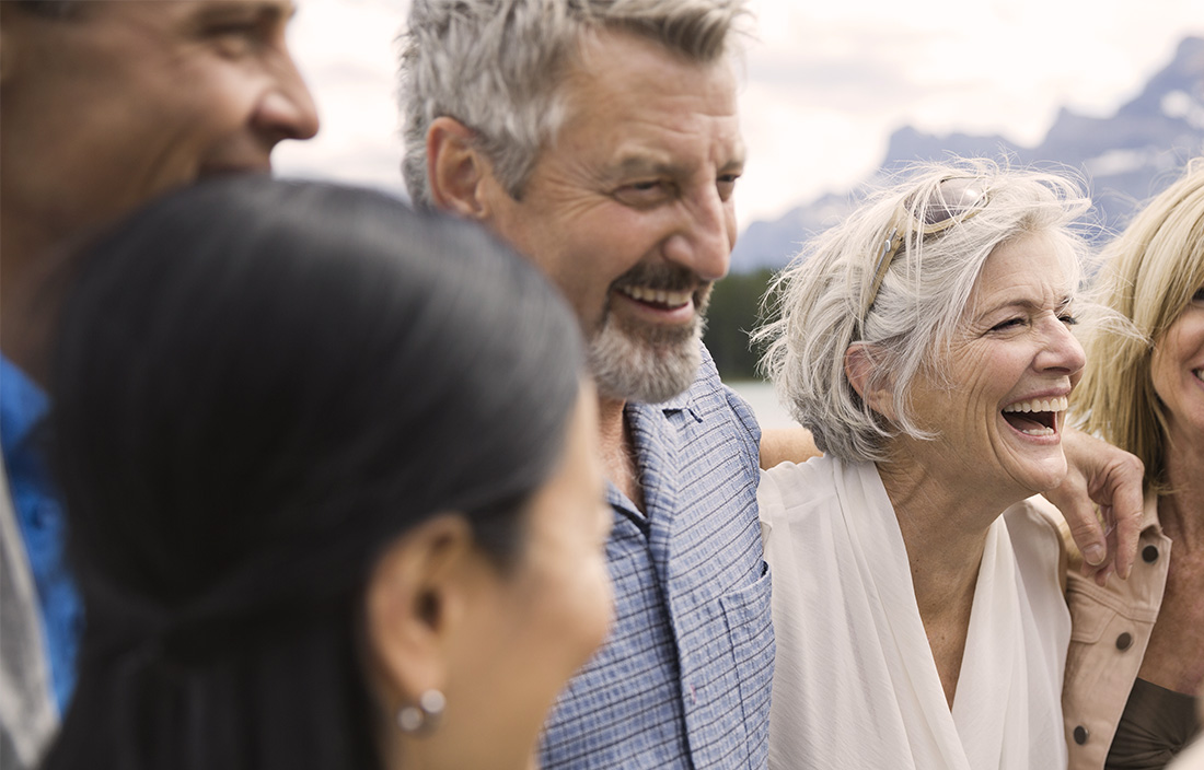 Image of older people laughing