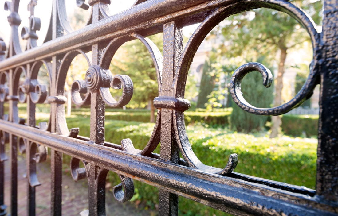 Image of wrought iron gate design.