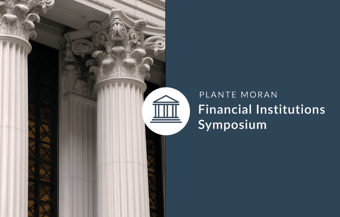 Logo for Plante Moran's 2020 Financial Institutions Symposium.