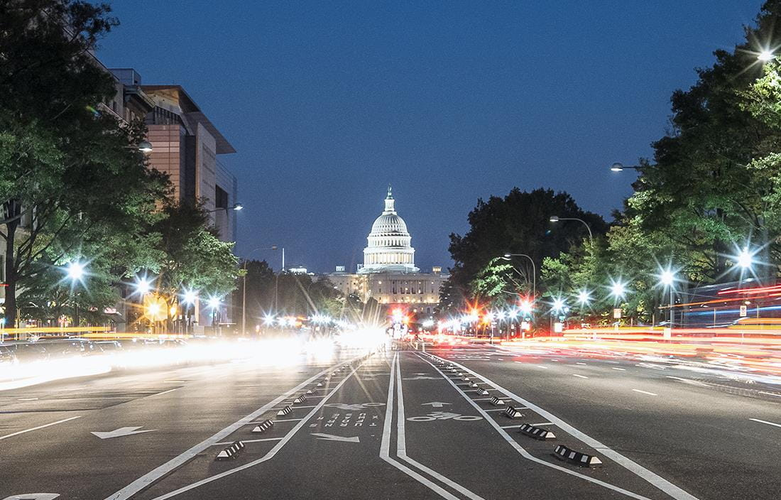 Image of road in front of White House